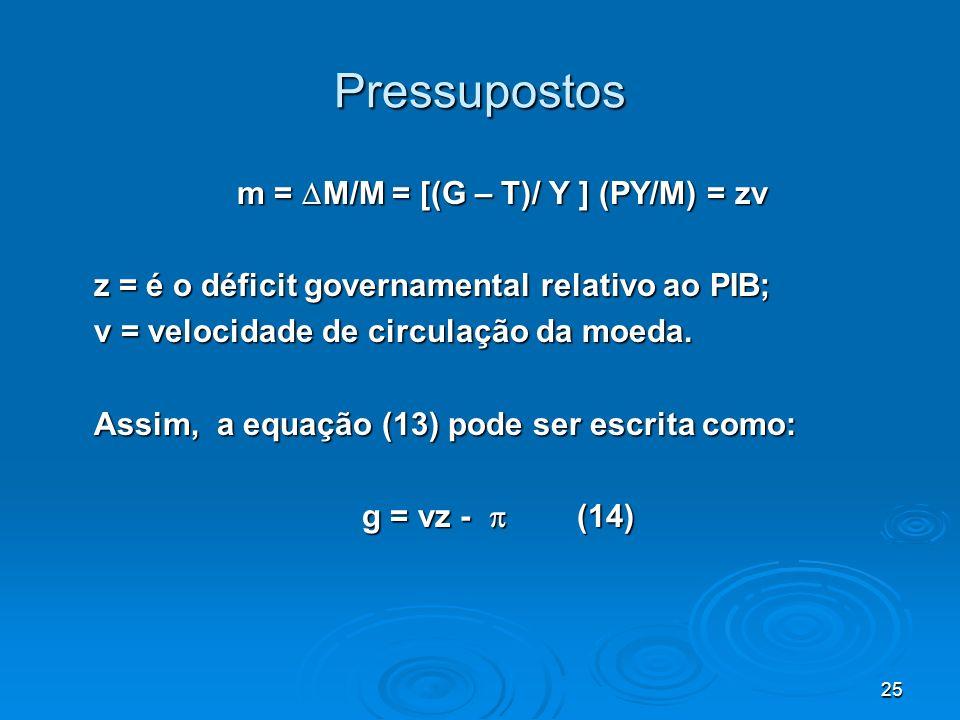 m = M/M = [(G – T)/ Y ] (PY/M) = zv